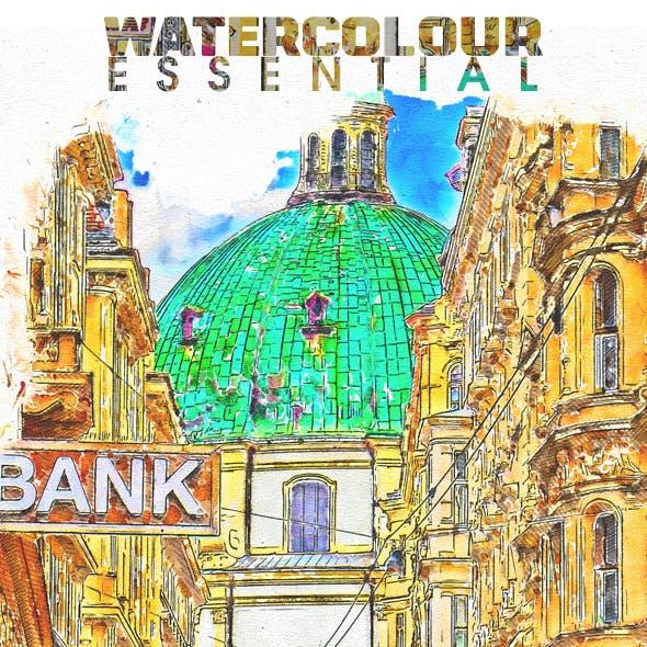 Watercolour Essential Photoshop Action