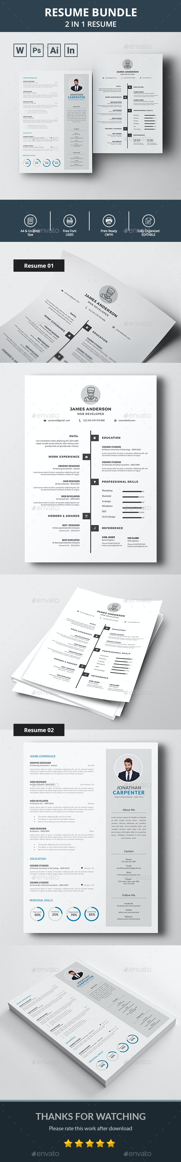 CV / Resume Bundle - Resumes Stationery