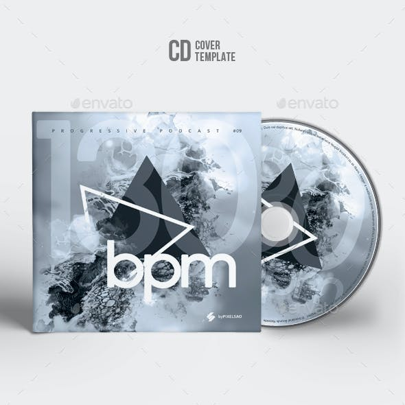130 bpm - Abstract CD Cover Artwork Template