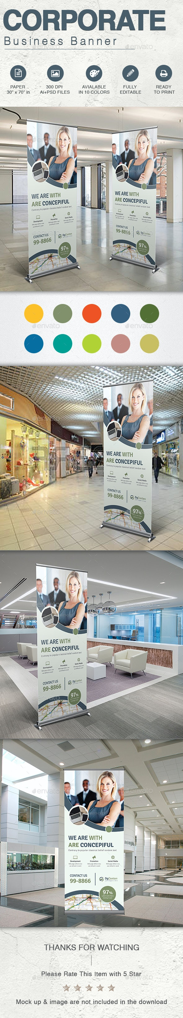 Corporate Business Banner - Signage Print Templates