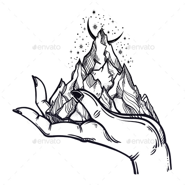 Mountains in Hands - Miscellaneous Vectors
