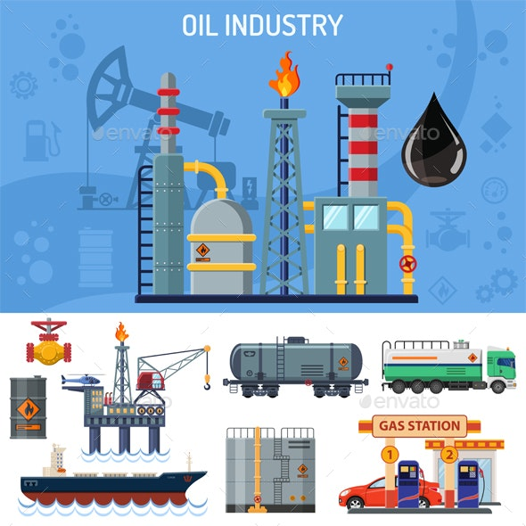 Oil Industry Banner - Industries Business