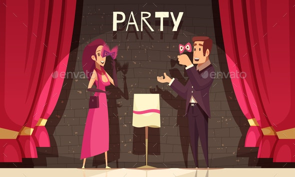 Carnival Party Background - People Characters