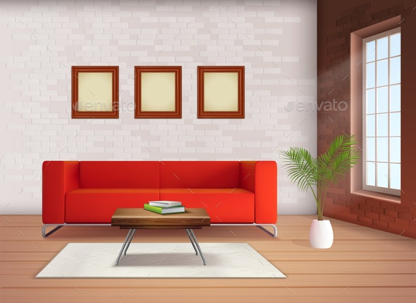 Interior Realistic Image - Objects Vectors