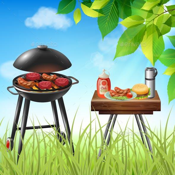 BBQ Realistic Illustration
