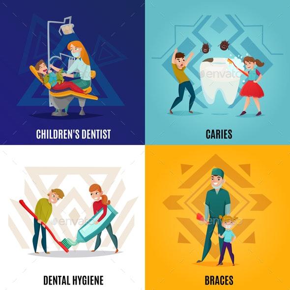 Pediatric Dentistry Concept Set - Health/Medicine Conceptual