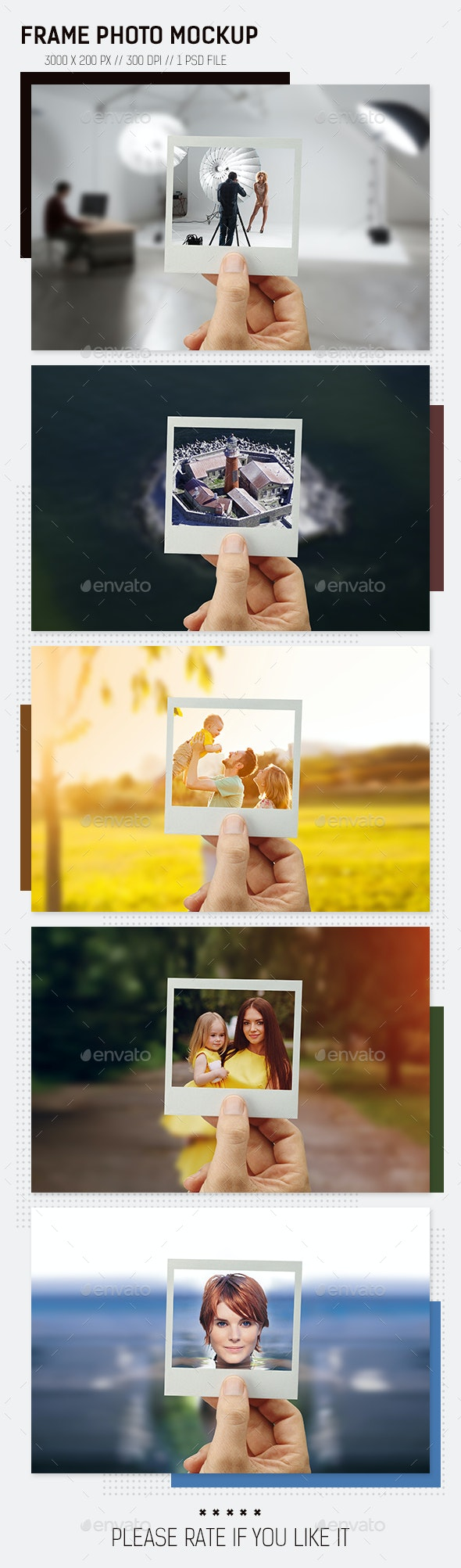 Frame Photo Mockup - Print Product Mock-Ups