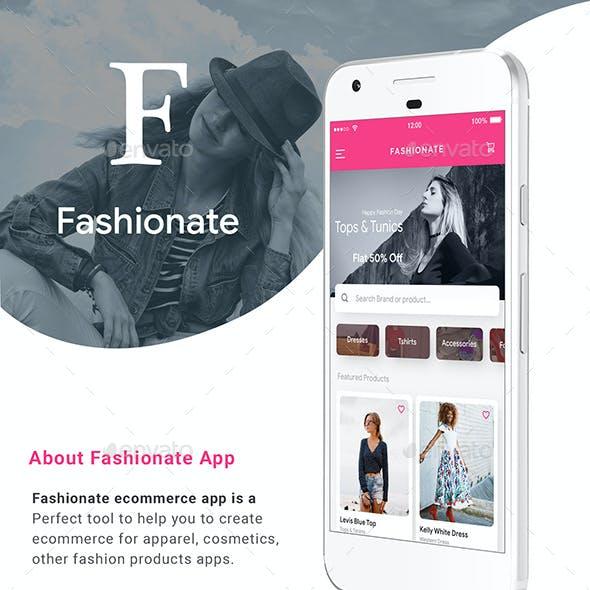 E commerce Fashion App UI Set   Fashionate