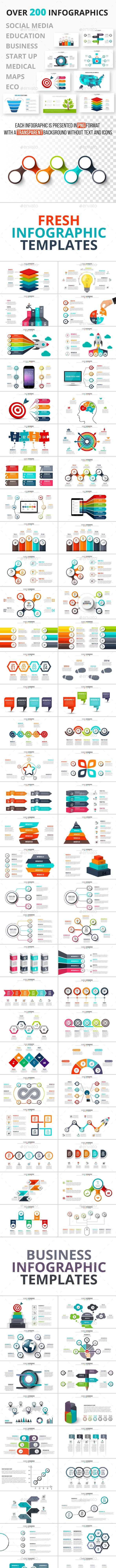 200 Infographics Bundle - Infographics