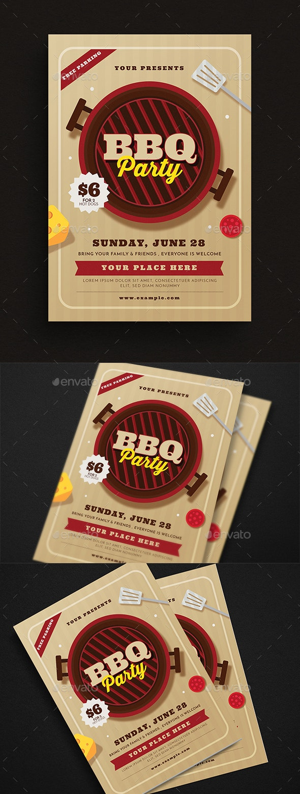 BBQ Party Event Flyer - Events Flyers