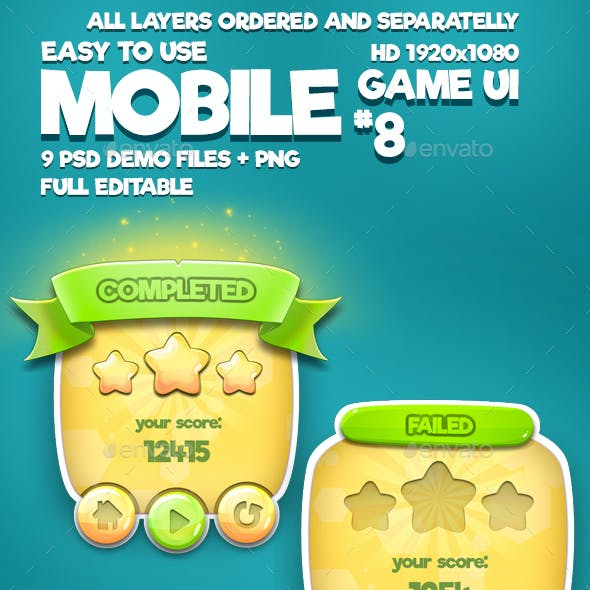 Mobile Game UI Pack #8
