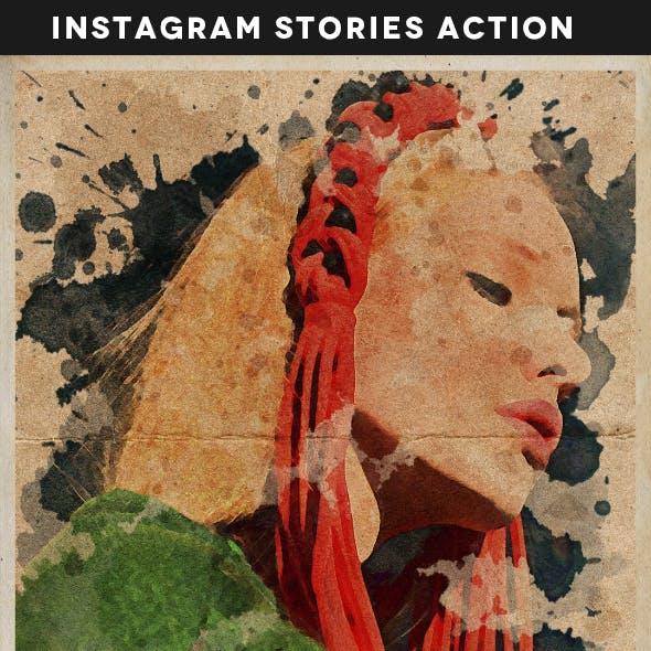 Animated Instagram Stories Creative Portrait