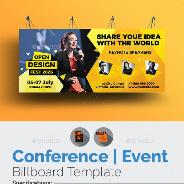 Conference / Event Billboard Template