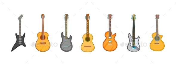 Guitar Icon Set - Man-made Objects Objects