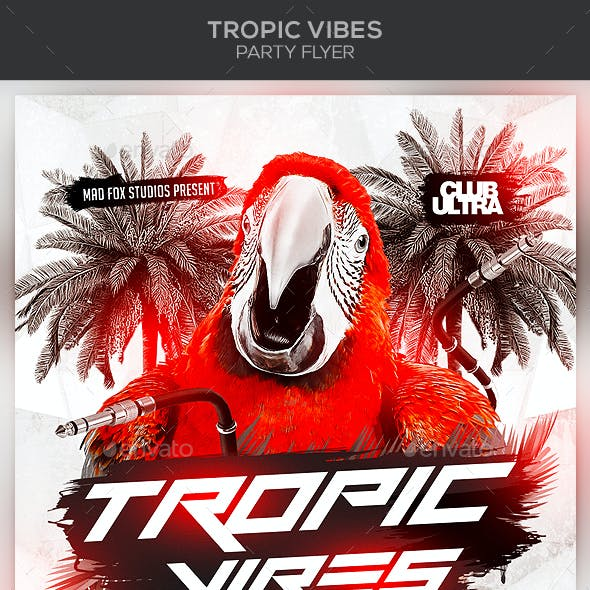 Tropic Vibes Party Flyer