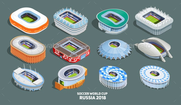 Football World Cup  Icons Set - People Characters