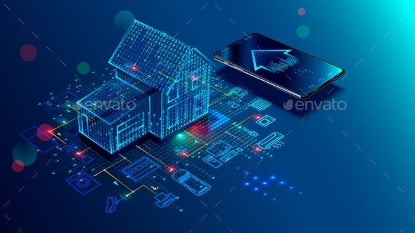 IOT Concept Smart Home Connection and Control - Computers Technology