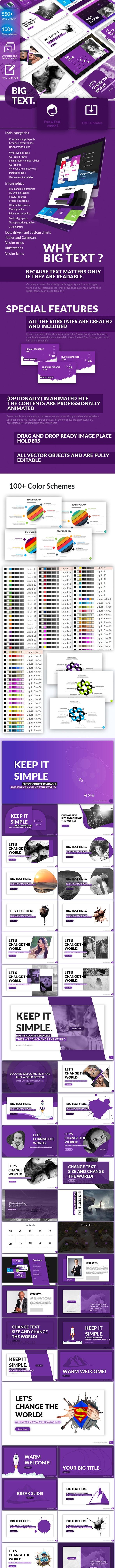 Big Text - Google Slides Presentation Template - Google Slides Presentation Templates