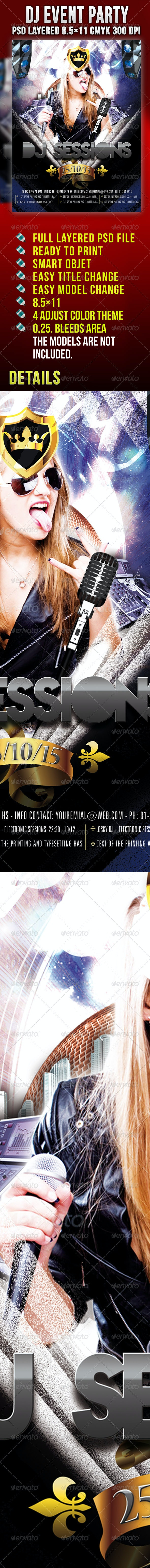 DJ Event Flyer - Clubs & Parties Events