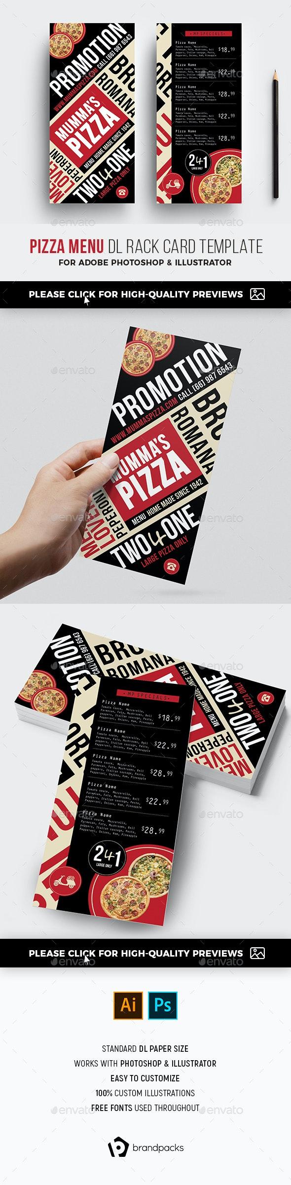 DL Pizza Menu Flyer - Restaurant Flyers