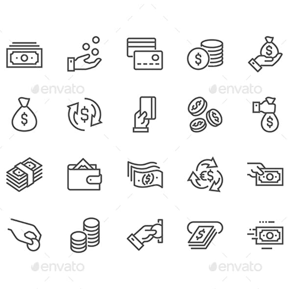 Lined Money Icons