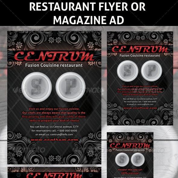 Restaurant Magazine Ads or Flyers 5