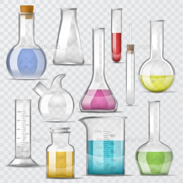 Test-tube Vector Chemical Glass Test Tubes Filled - Miscellaneous Vectors