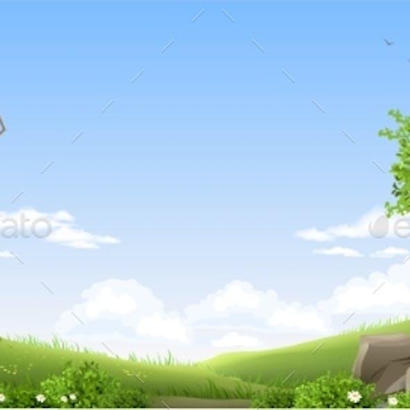 Banner Natural Fantasy Landscape