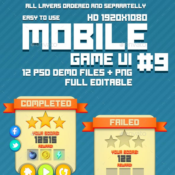 Mobile Game UI Pack #9