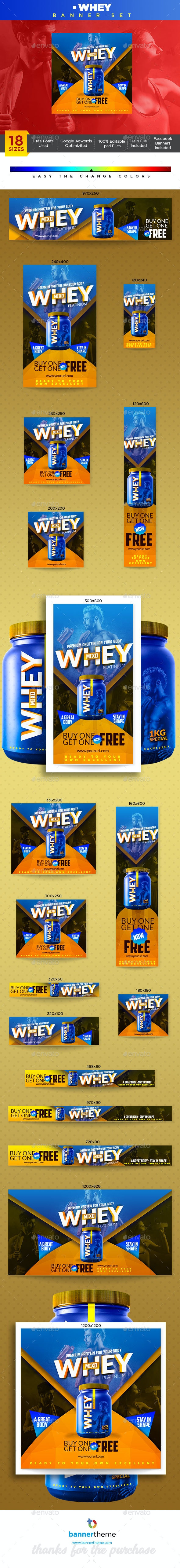 Whey Banner - Banners & Ads Web Elements