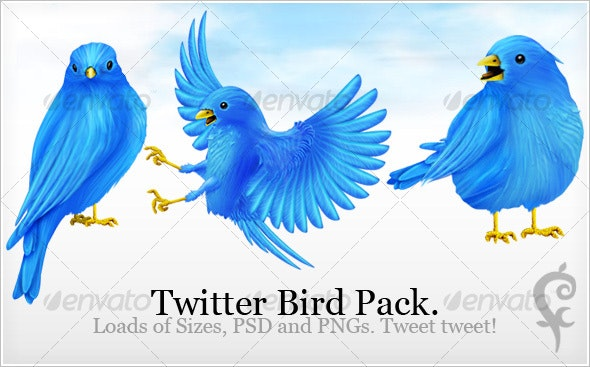 Twitter Bird Pack - Web Icons