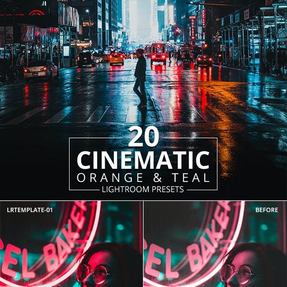 20 Cinematic Orange and teal Lightroom Presets