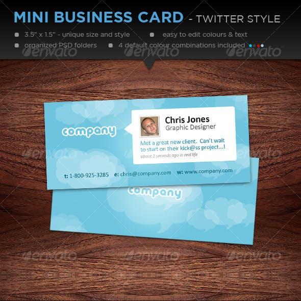 Mini Designer Business Cards - Twitter Style