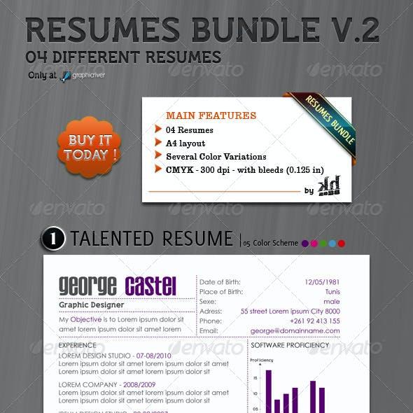 Resumes Bundle V.2 (4 in 1)