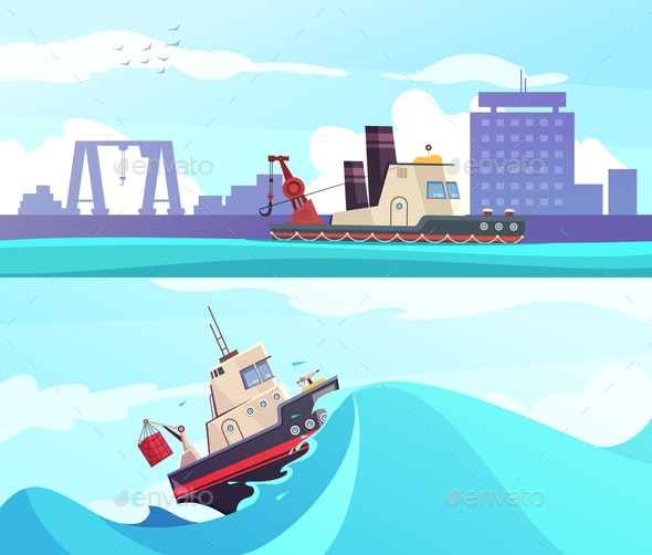 Nautical Horizontal Banners - Miscellaneous Vectors