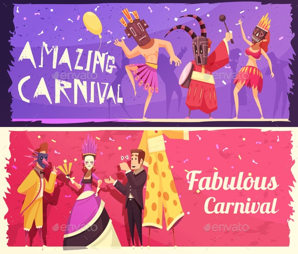Carnival Banners Set - Miscellaneous Vectors