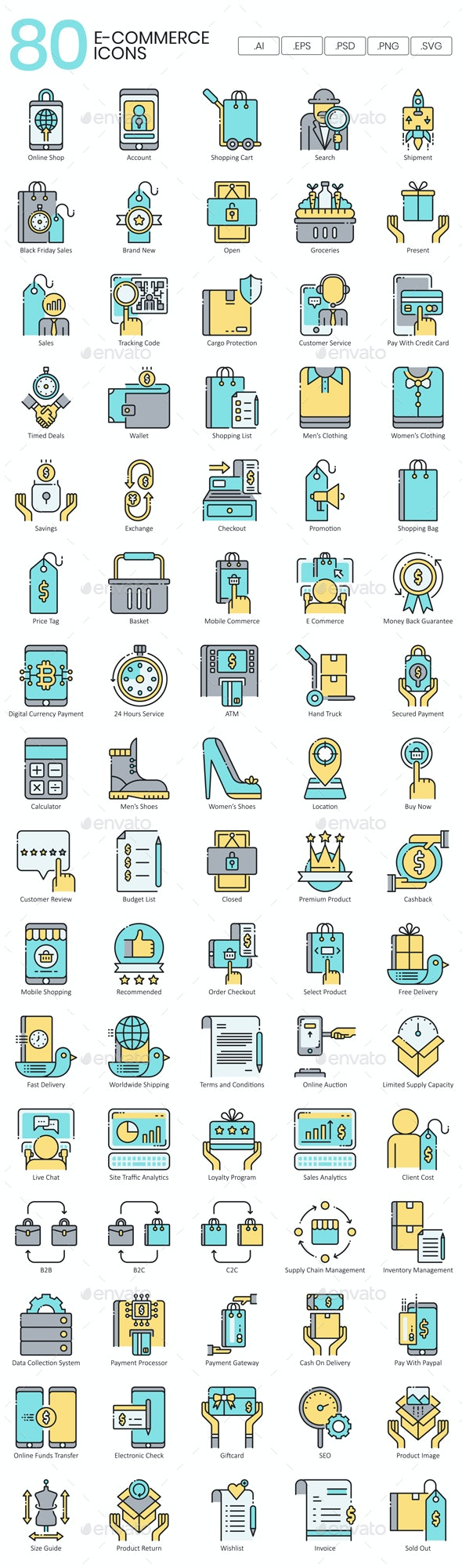 Ecommerce Icons - Business Icons