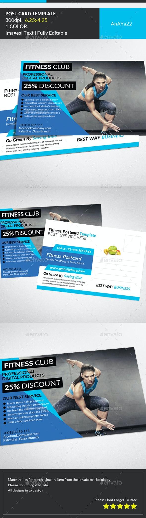 Fitness Postcard Psd Template - Cards & Invites Print Templates