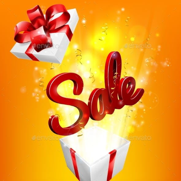 Sale Sign Gift Concept Background