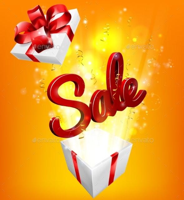 Sale Sign Gift Concept Background - Miscellaneous Vectors