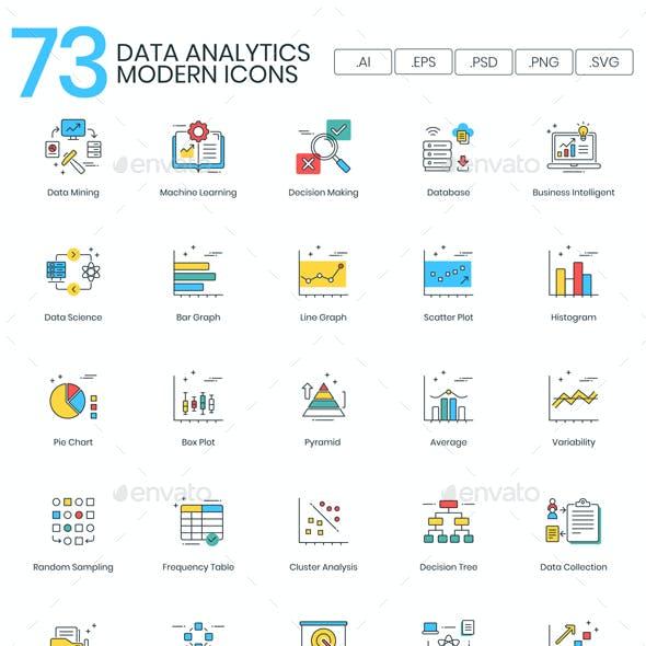 Data Analytics Icons - Modern