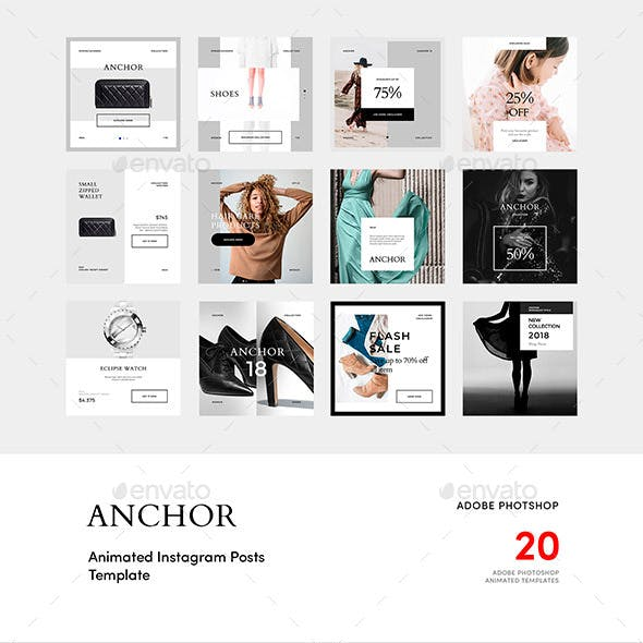 Anchor — Animated Instagram Post Templates