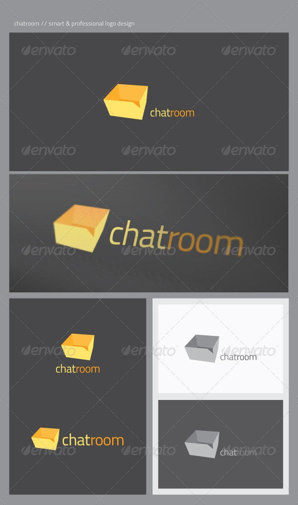 Chat Room - Symbols Logo Templates