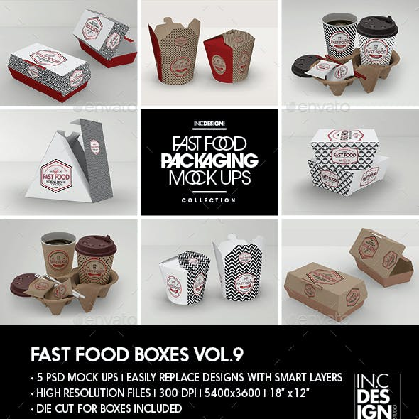 Fast Food Boxes Vol.9: Take Out Packaging Mock Ups