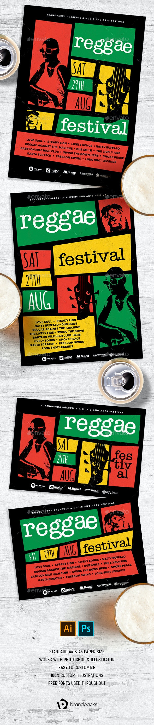 Reggae Flyer / Poster - Clubs & Parties Events
