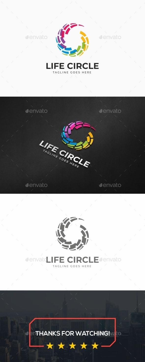 Life Circle Logo - Symbols Logo Templates