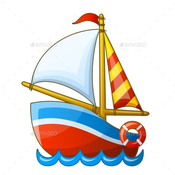 Sailing Vessel Isolated on White Background - Miscellaneous Vectors
