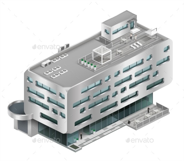 Isometric Building Shopping Mall - Buildings Objects