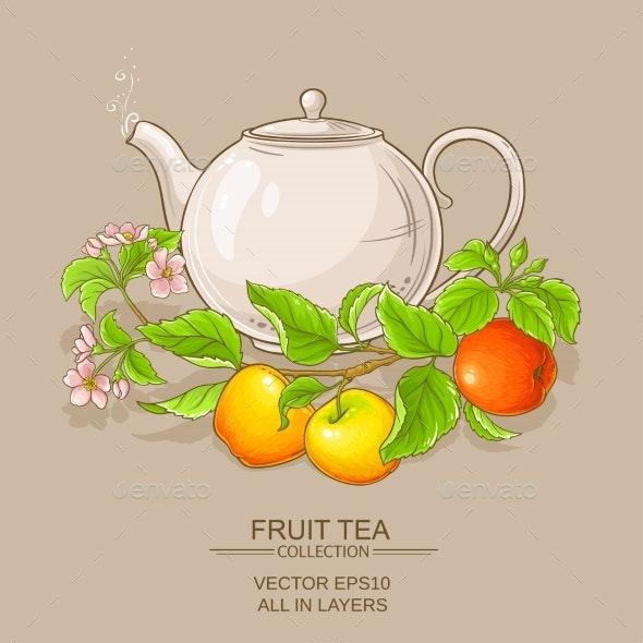 Apple Tea in Teapot - Food Objects