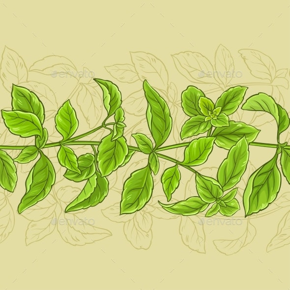 Basil Vector Pattern - Food Objects